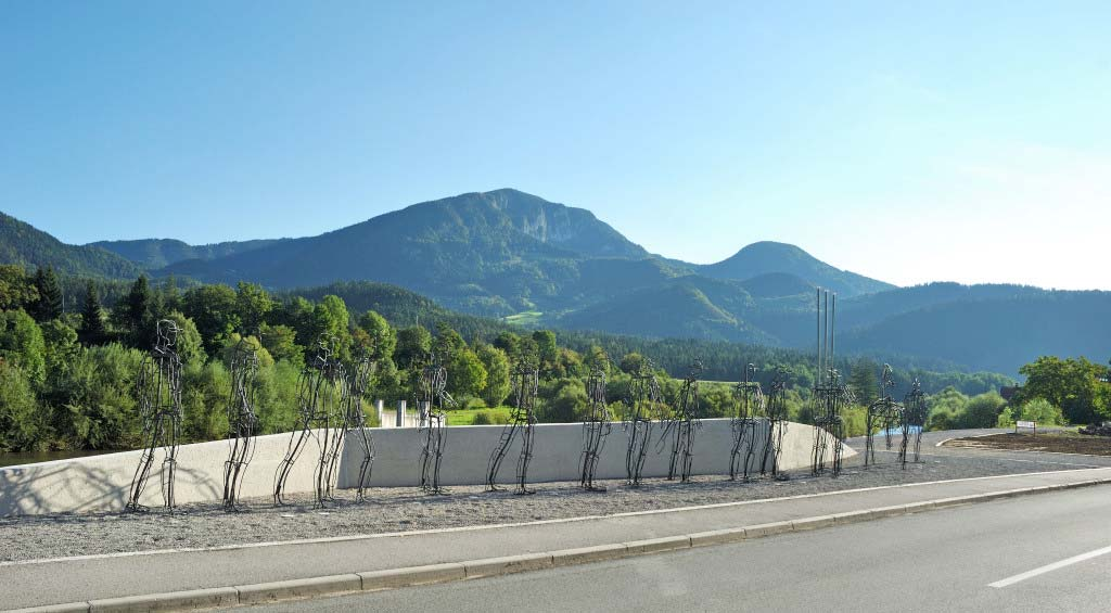 Park borcev za severno mejo – 2007 – železo / iron – stalna postavitev / permanent exhibition; Ljubno ob Savinji | foto: Miran Kambič