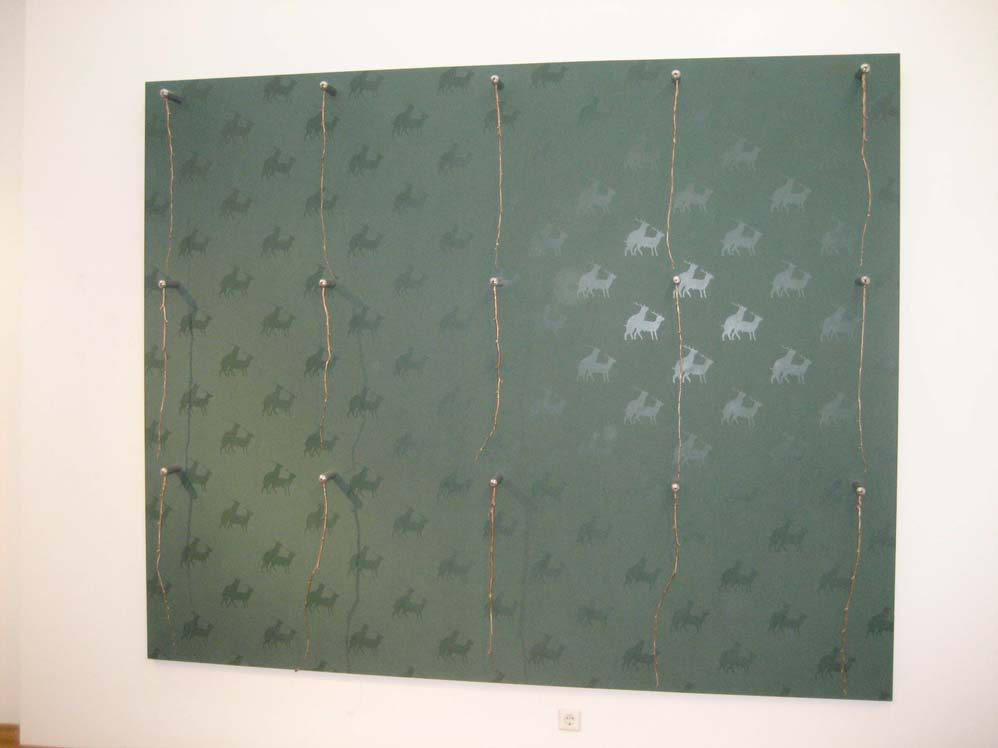 John Deere (Double Action Only) – 2006 – akril, bron / acryl, bronze – Galerija Luwigana; Ljubljana